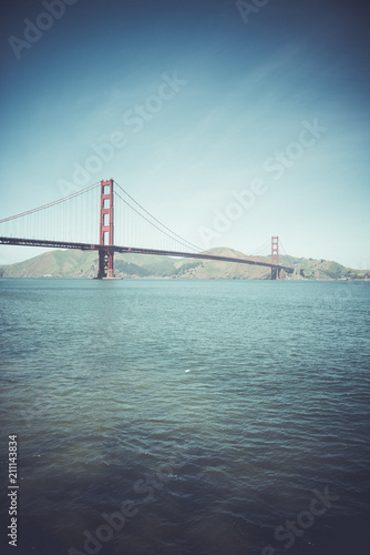 Spoed Foto op Canvas Amerikaanse Plekken Golden Gate Bridge, San Francisco, California, USA.