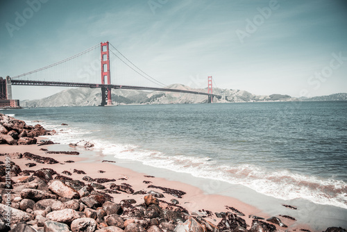 Foto op Plexiglas Amerikaanse Plekken Golden Gate Bridge, San Francisco, California, USA.