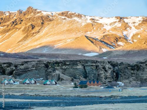Foto op Canvas Blauwe hemel Skaftafell national park landscape, Iceland