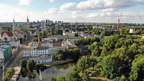 Fototapeta Łódź, Polska- widok na centrum. obraz