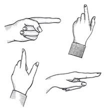 Index Finger Shows Gesture Upw...