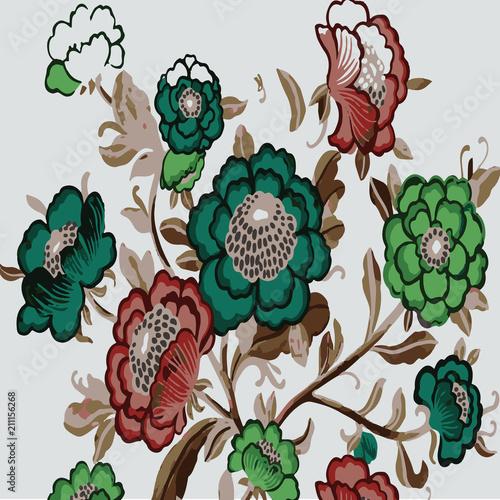 Foto op Plexiglas Bloemen Floral Pattern Illustration