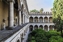 Rome, Italy - June 7 2018: Interior Of Palazzo Venezia