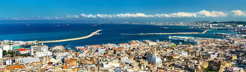 Fototapeta Panorama of the city centre of Algiers in Algeria