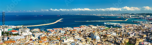 Poster Algerije Panorama of the city centre of Algiers in Algeria