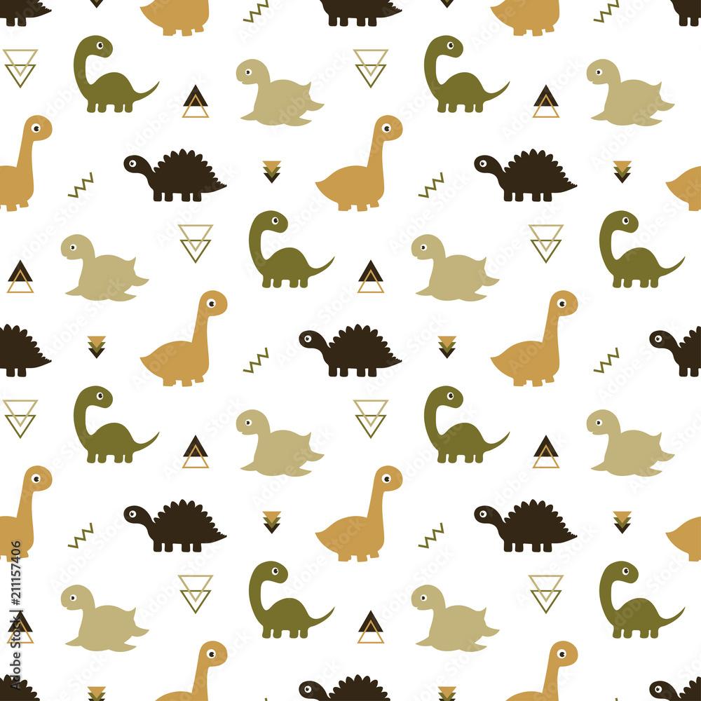 seamless dinosaur pattern