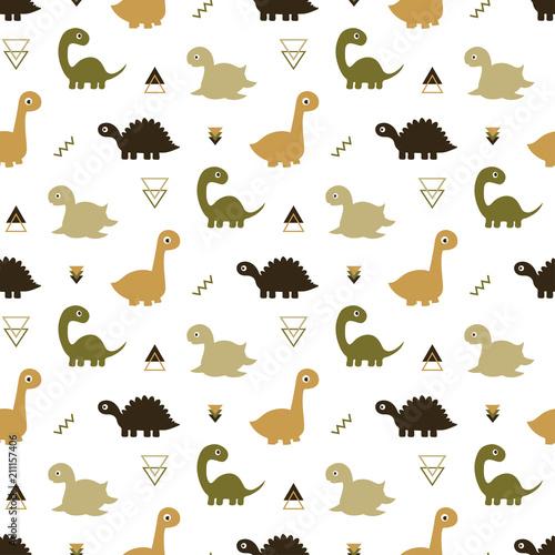 plakat seamless dinosaur pattern