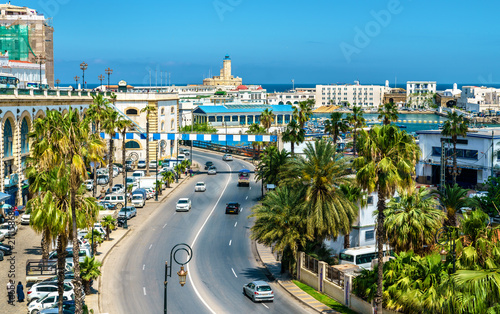 Seaside boulevard in Algiers, the capital of Algeria