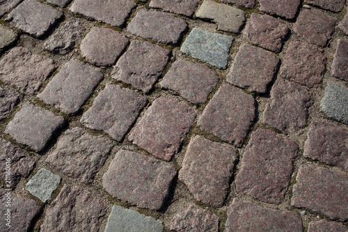 In de dag Stenen Paving stone texture