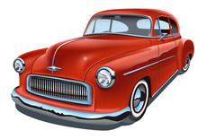 Vintage Realistic Classic Car.