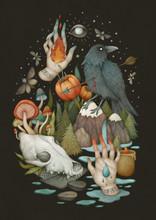 Rituals. Mystical Illustration...