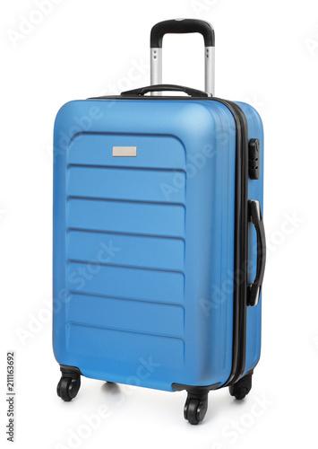 Fotografia Blue plastic suitcase
