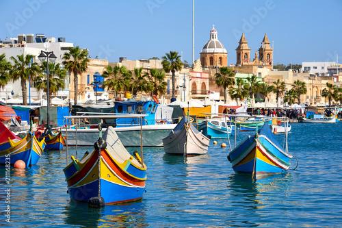 Poster de jardin Europe Méditérranéenne Marsaxlokk harbor