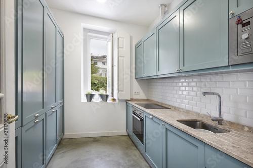 Interior de casa cozinha Moderna Slika na platnu