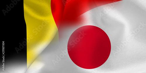Fotografía  ベルギー 日本  国旗 サッカー