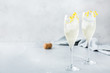 canvas print picture - Alcohol drink champagne cocktail for summer days