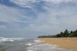 Tropical sandy beach in Sri Lanka