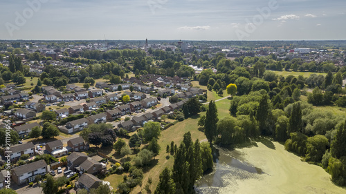 Photo  Aerial view of lake in Colchester, Essex