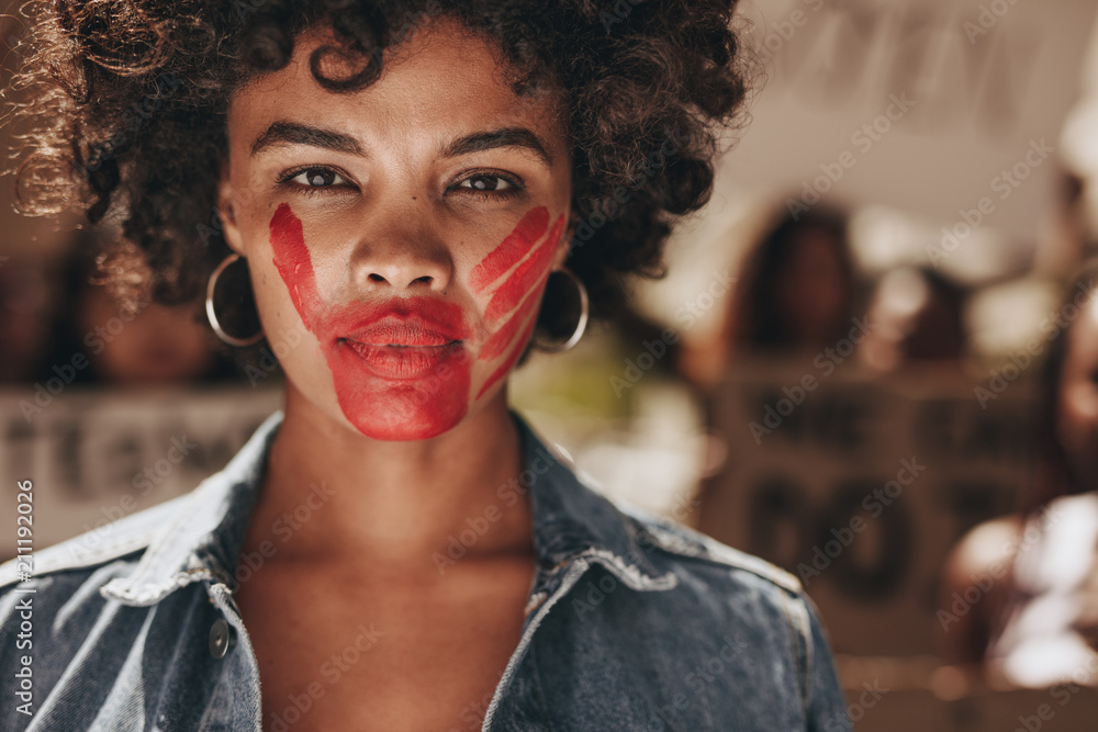 Fototapeta Stop domestic violence and abuse on women