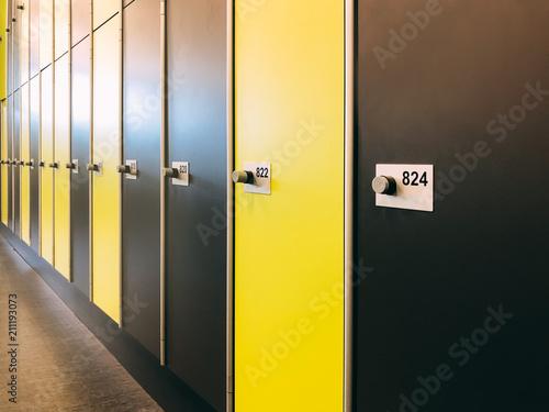 Fotografie, Obraz  Gym changing room lockers