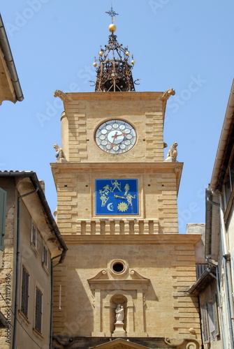 Fotografie, Obraz  Tour de l'Horloge (XVIIe), Ville de Salon de Provence, département des Bouches-d