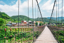 Wooden Bridge And Shifen Old T...