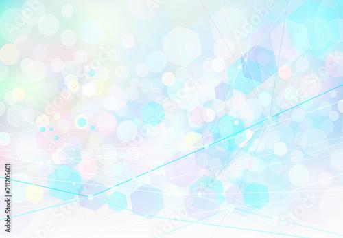 ネットワークテクノロジー抽象背景素材-ファンタジーカラー
