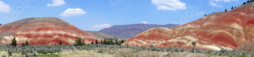 Valokuva  Striated red and brown paleosols in the Painted Hills