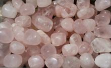Tumbled Rose Quartz Gem Stone As Mineral Rock