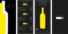 Wine Menu With A Price List Of...