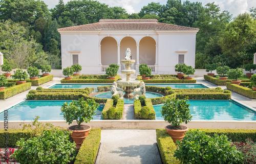 Photo Italian Renaissance Garden in Hamilton gardens of New Zealand.