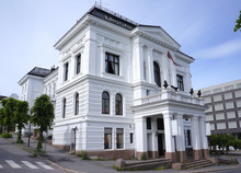 Historical Building In The City Center Of Skien, A City And Municipality In Telemark County, Norway. It Is Part Of The Traditional Region Of Grenland.