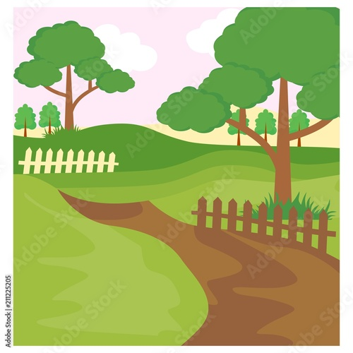 Foto op Canvas Pistache pathway forest jungle panorama scenery landscape background