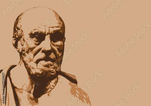 Foto  Hippocrate - médecine - portrait - personnage célèbre - personnage - historique