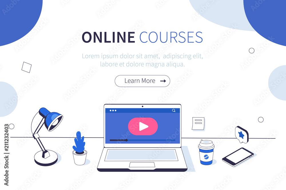 Fototapeta online courses