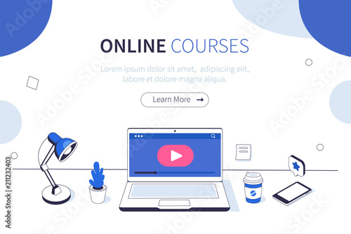 online courses Fotobehang
