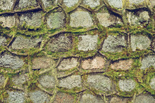 Relief Background Of Stones And Moss
