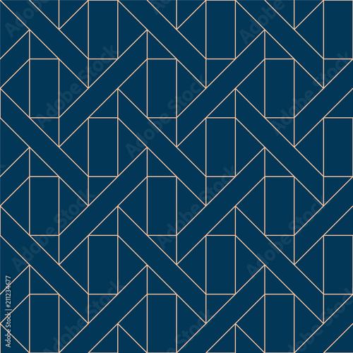 Blue geometric pattern vector Canvas-taulu