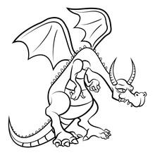 The Dragon Coloring Book Carto...