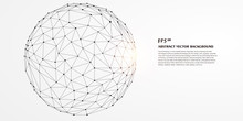 Low Polygon Mesh Sphere, High ...