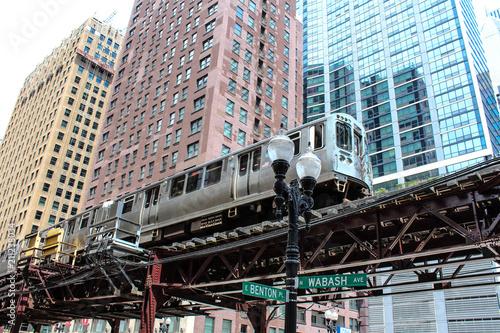 Tuinposter Amerikaanse Plekken USA - Chicago metro