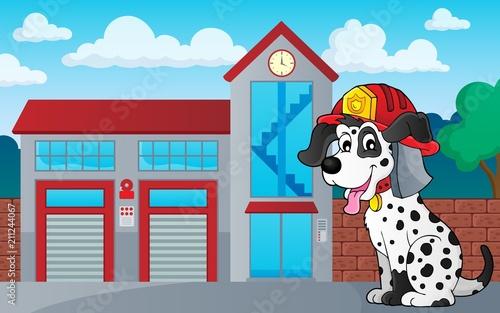 In de dag Voor kinderen Firefighter dog theme 3