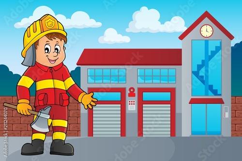 In de dag Voor kinderen Firefighter man image 3