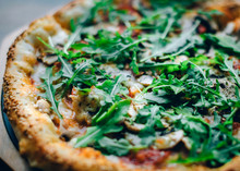 Closeup Photo Of Pizza With Fr...