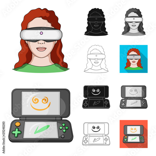 3d0817e82afb Game console and virtual reality cartoon