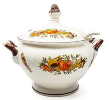 Vintage Tureen On A White Back...