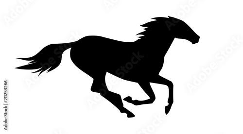 Cuadros en Lienzo vector illustration of running horse.