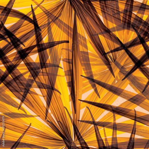 Tapety do sypialni palmowy-monstera-bezszwowy-wzor-pomaranczowa-biel