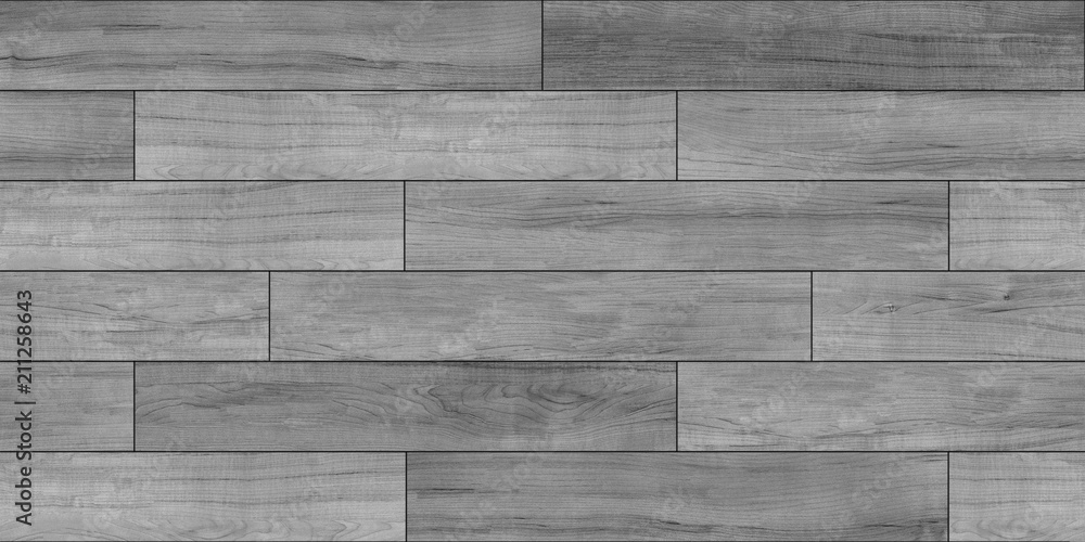 Fototapeta Decking gray seamless texture, bump, displace, reflect and glossiness.