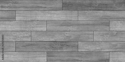 Fototapeta Decking gray seamless texture, bump, displace, reflect and glossiness. obraz